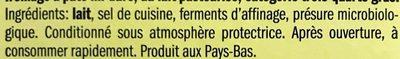 Queso Edam - Ingrédients - fr