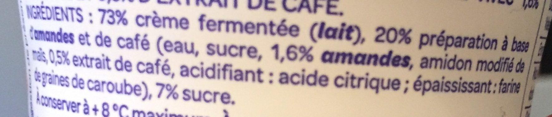 L'onctueux framboise - Ingrédients - fr