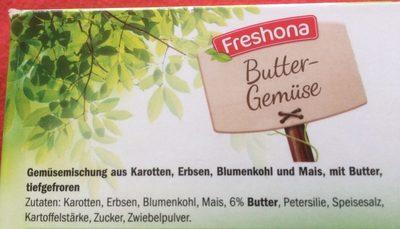 Buttergemüse - Ingrédients - fr