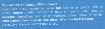 Chocolat Calendrier de l'avent - Ingredients