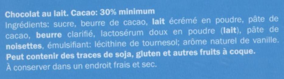 Chocolat Calendrier de l'avent - Ingredientes