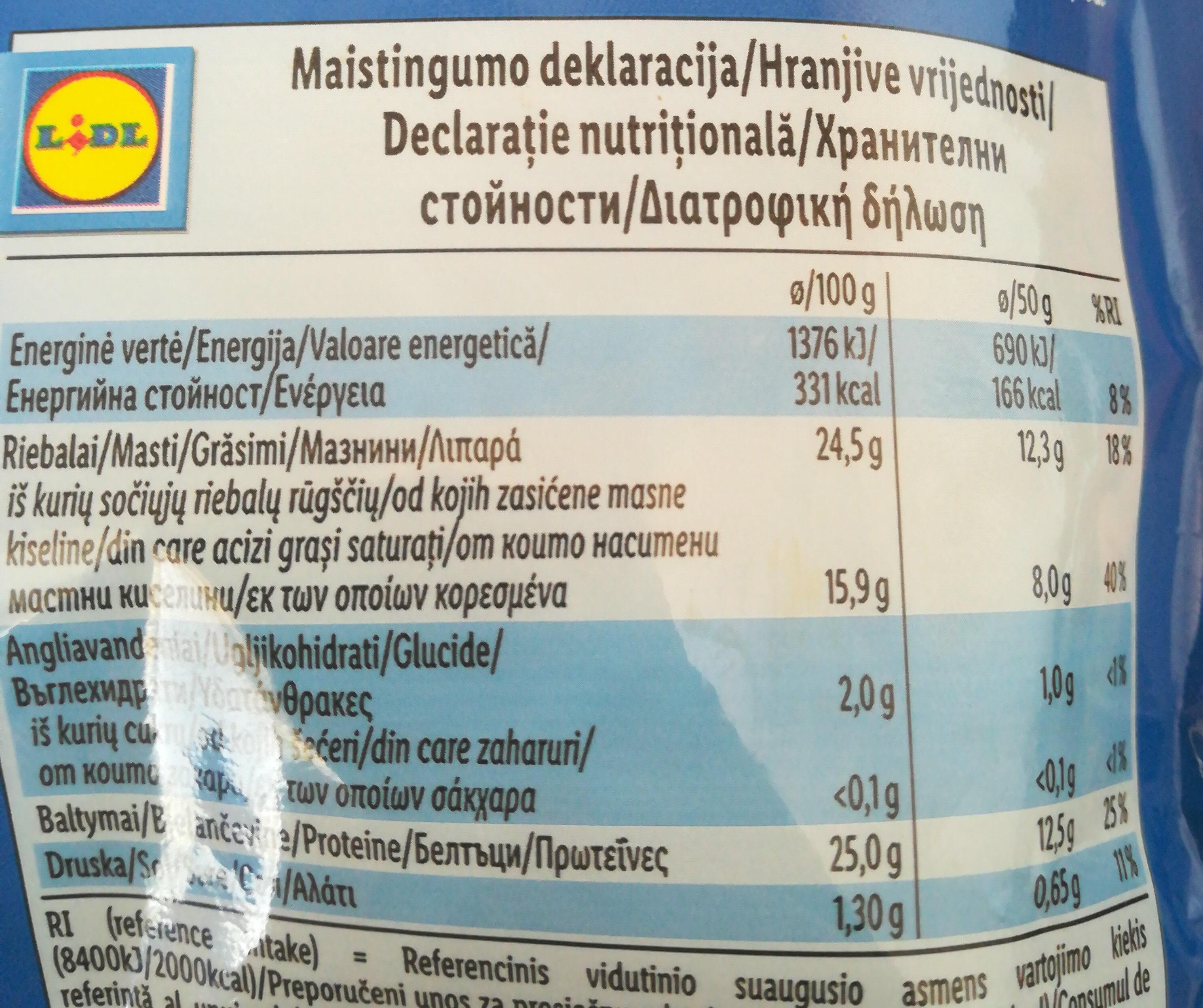 Mozzarella - Informazioni nutrizionali - ro