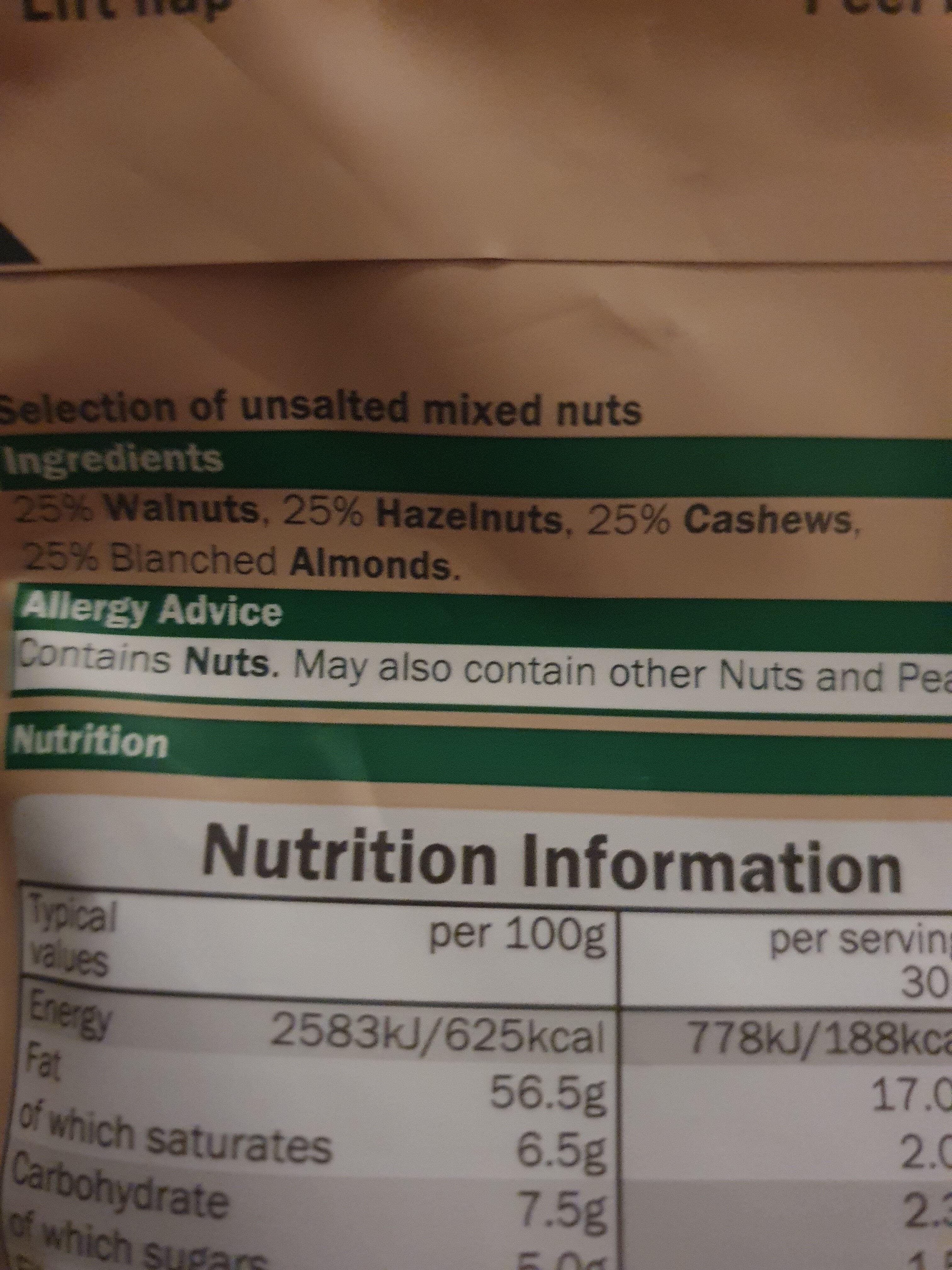 Mixed Nuts - Ingredienti - en
