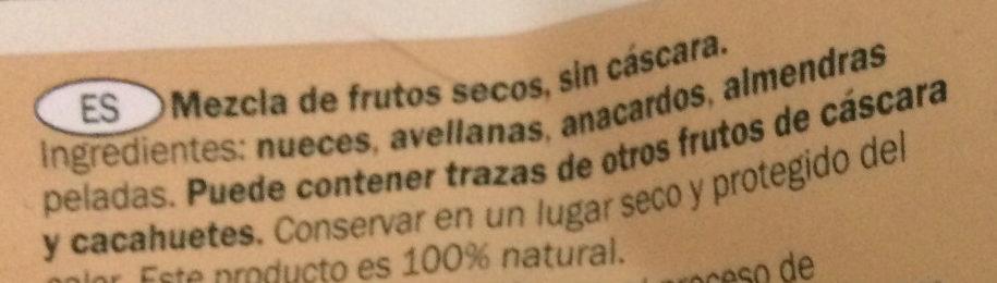 Mélange de fruits secs - Ingredientes