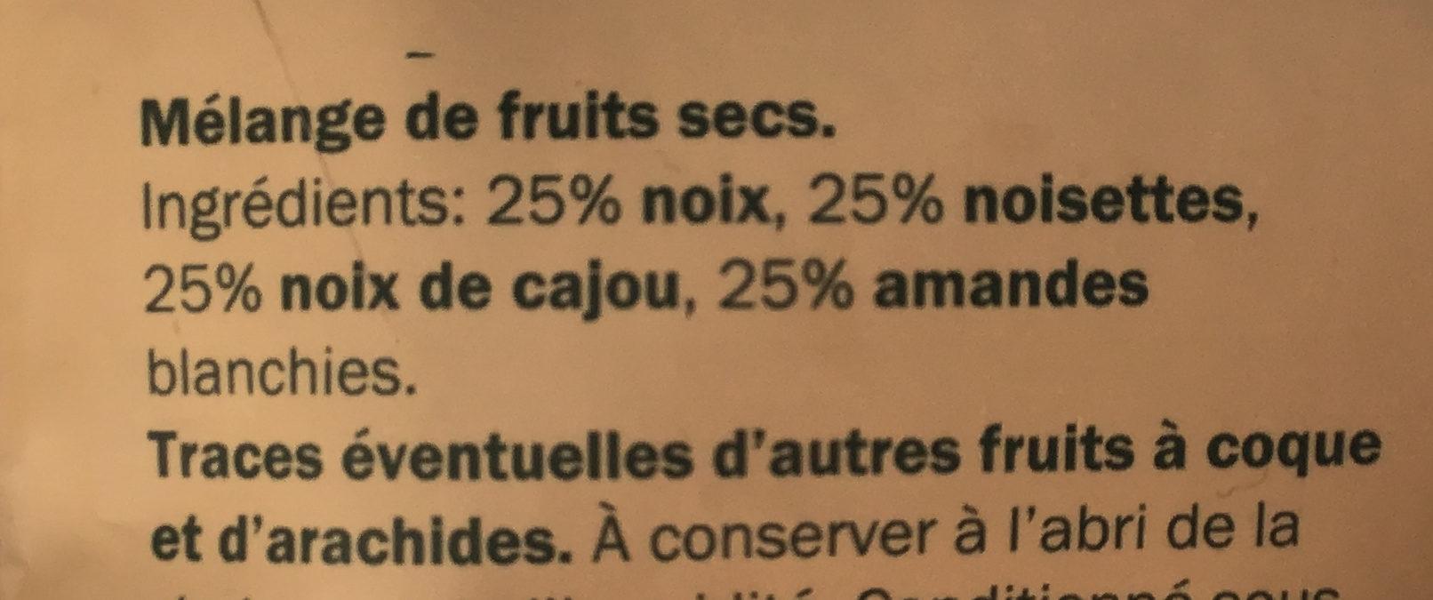 Mélange de fruits - Ingredients
