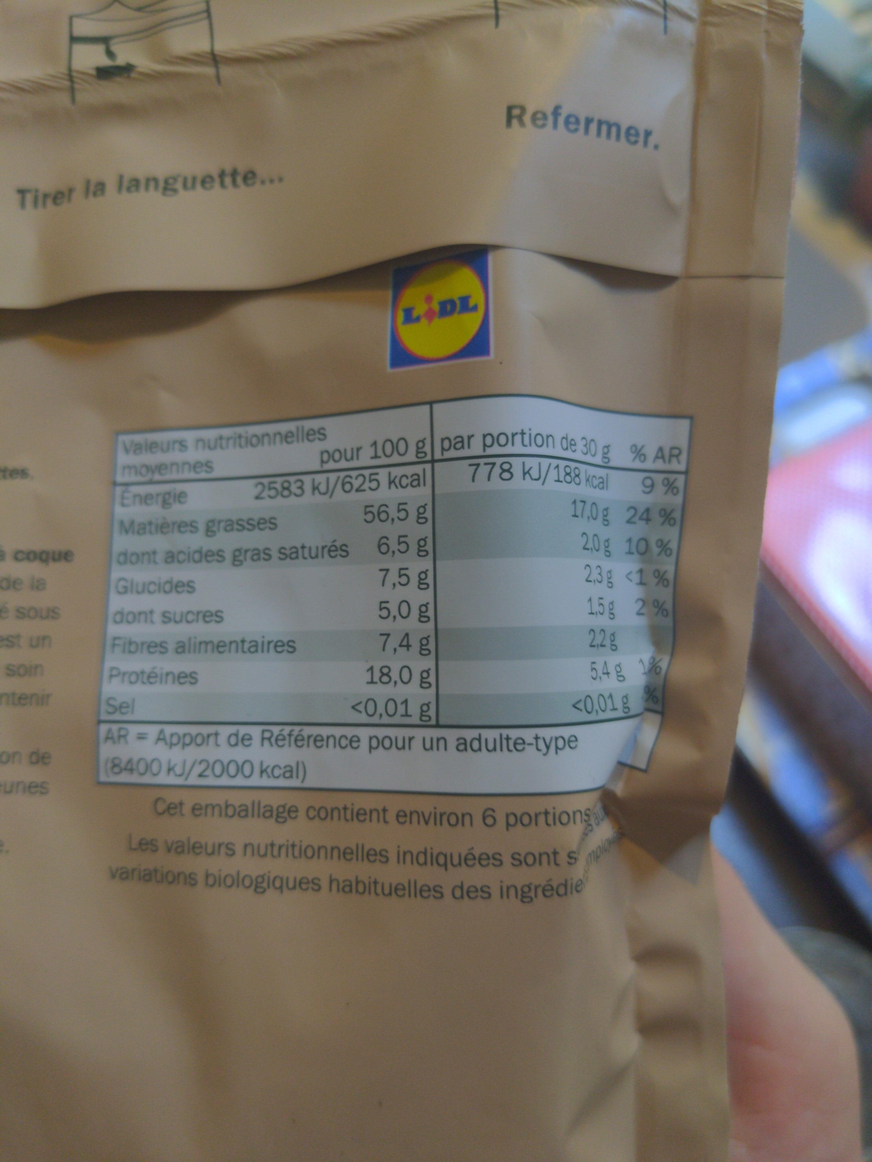 Nuts Royal naturbelassen - Informations nutritionnelles - fr