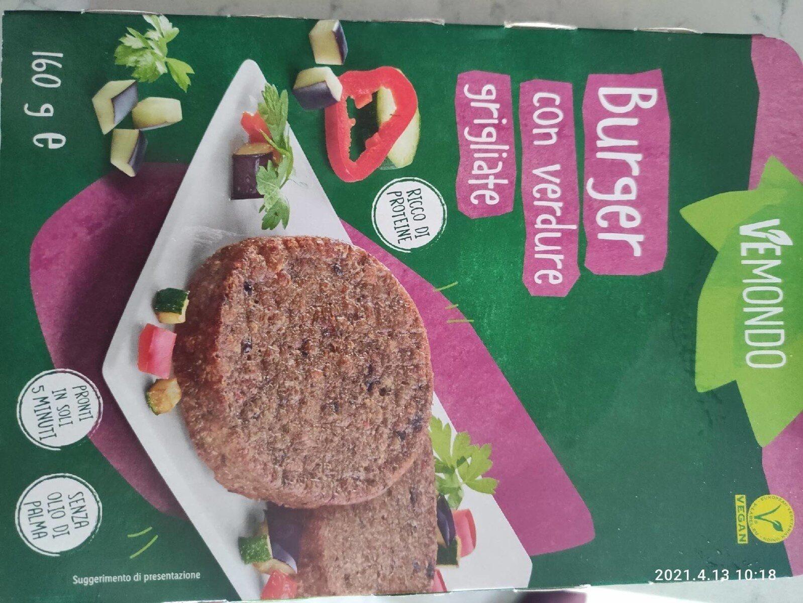 Burger con verdure grigliate - Product - it