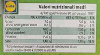 Burger con verdure grigliate - Voedingswaarden - it