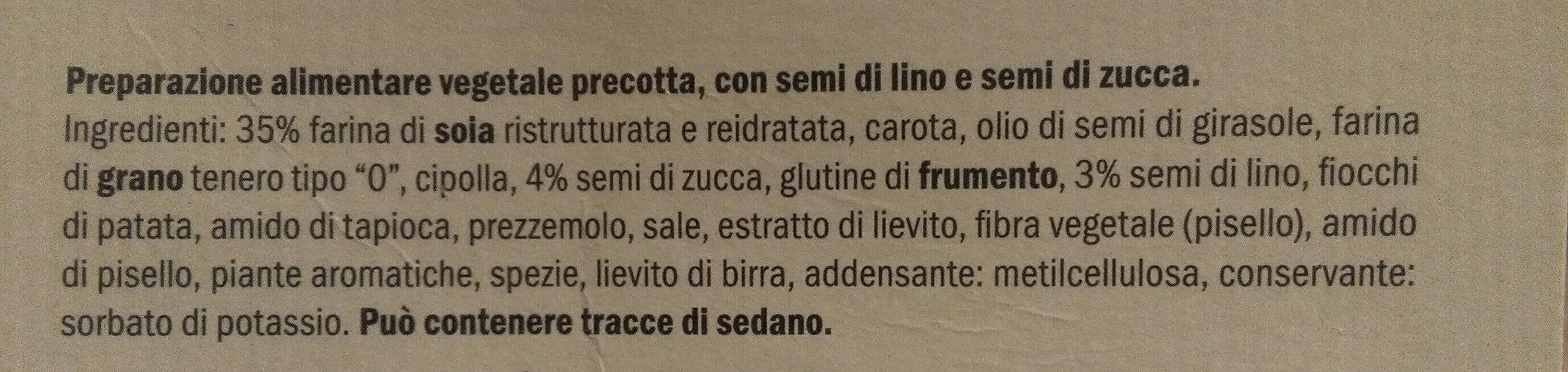 Burger vegetali - Ingredienti