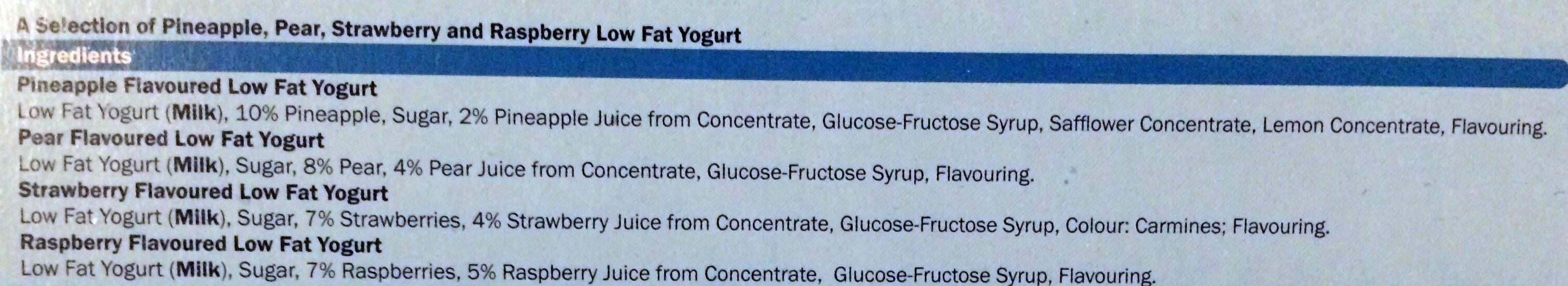 Fruit Yogurts Low Fat - Ingredientes