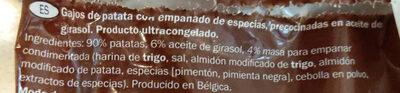 Patatas Wedges condimentadas - Ingredienti - es