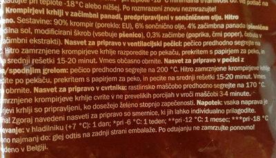 Potato Wedges seasoned - Ingrediënten - sl