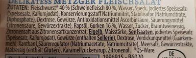 Metzger Fleischsalat - Ingrédients