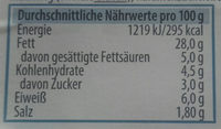 Metzger Fleischsalat - Nutrition facts