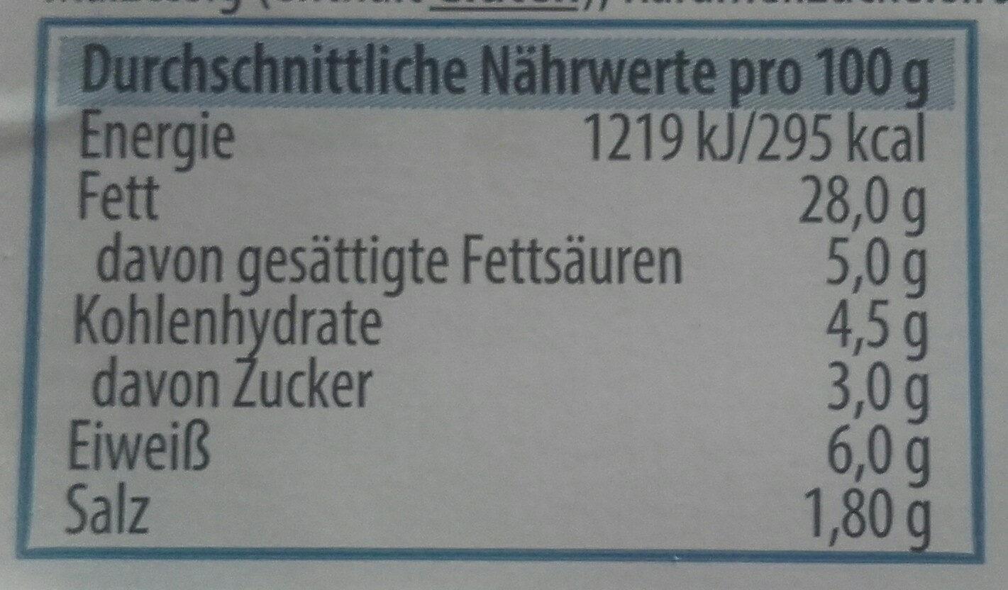 Metzger Fleischsalat - Informations nutritionnelles