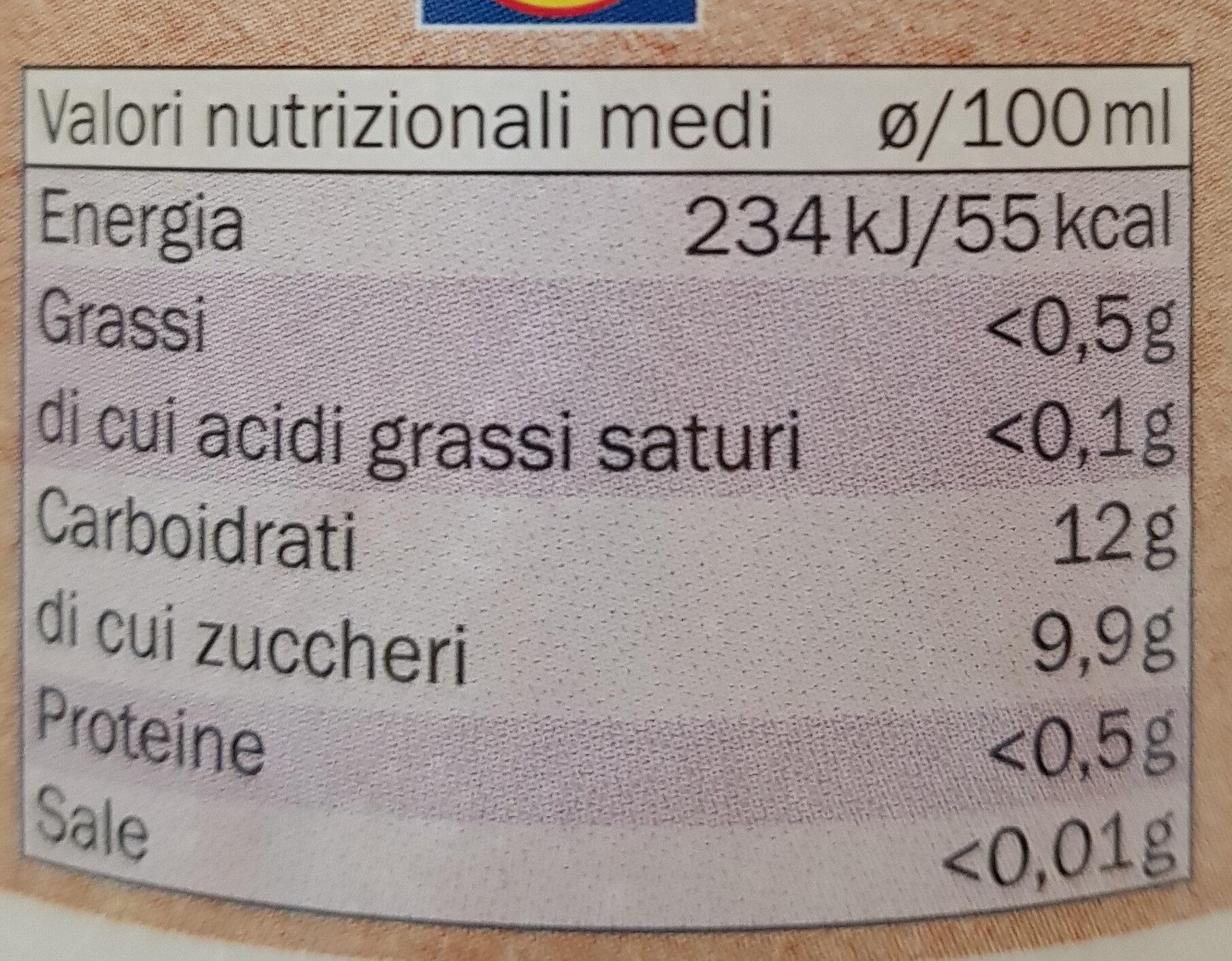 Bio Mirtillo - Informations nutritionnelles