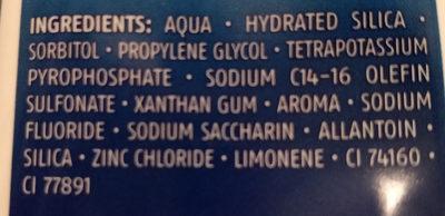 complex 3 mint fresh toothpaste - Ingrediënten