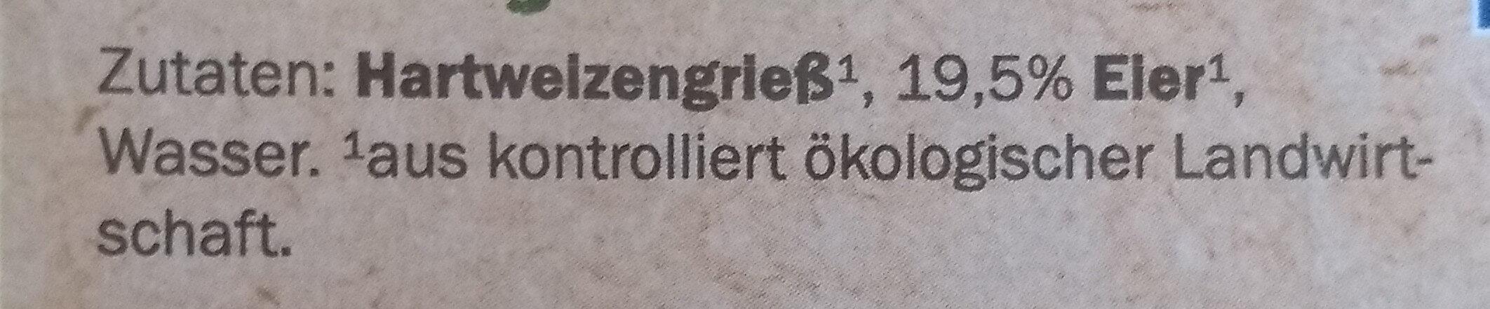 Frische Tagliatelle - Ingrédients