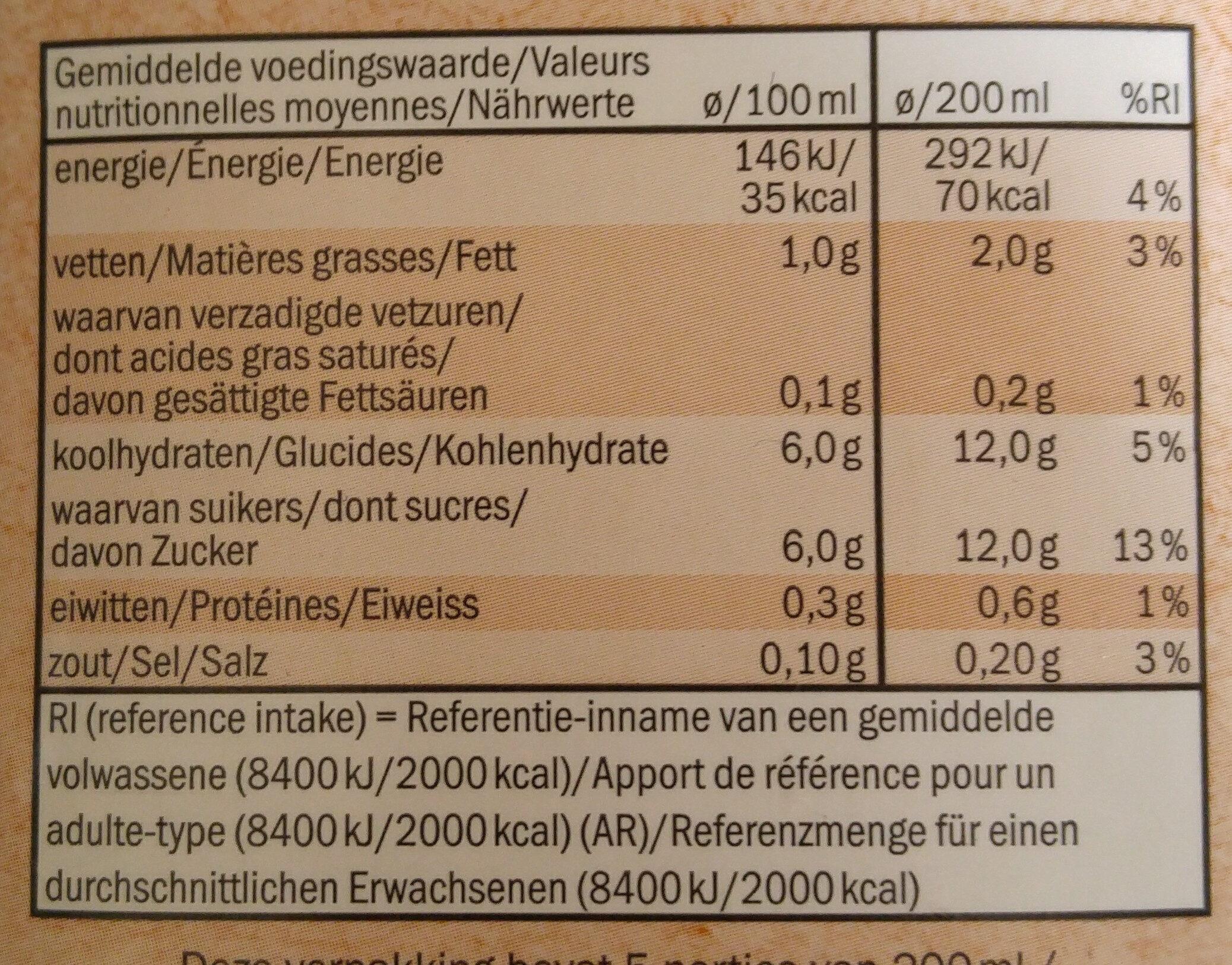 Almond drink - Voedigswaarden