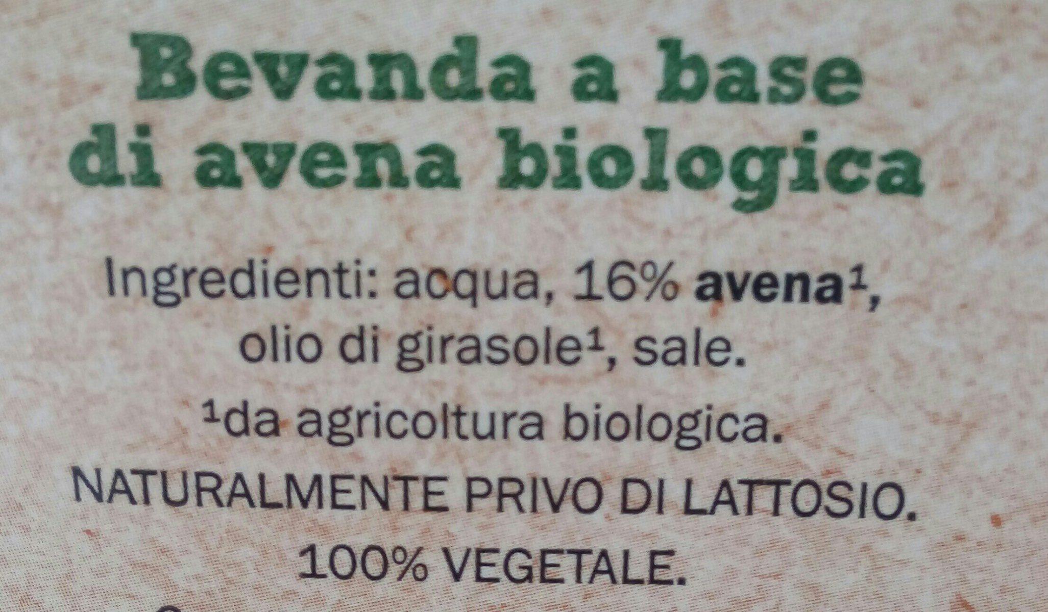 Bio Organic Oat Drink - Ingrédients