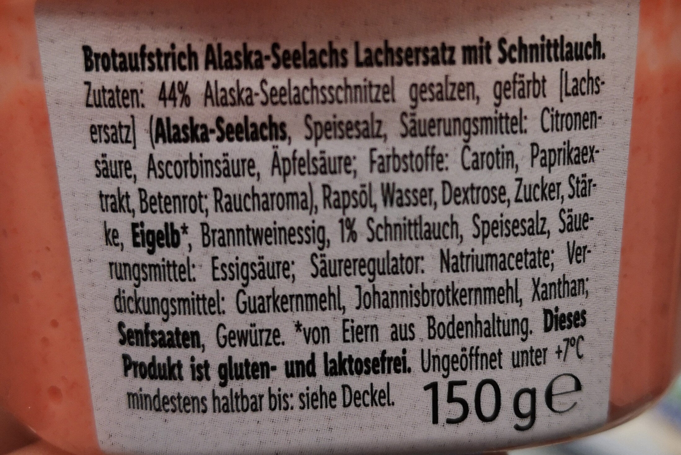 Brotaufstrich Alaska-Seelachs - Ingredients - de