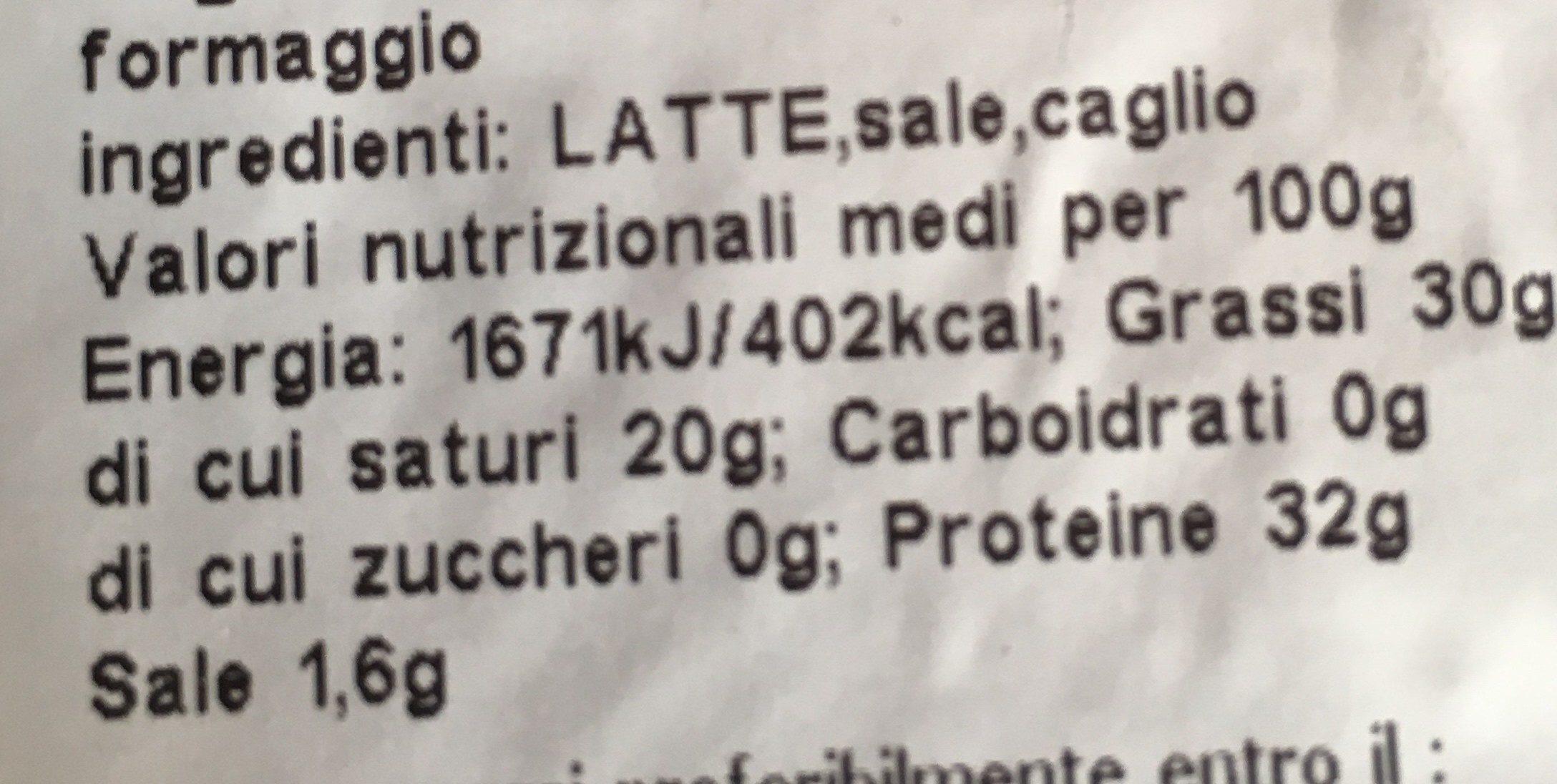 Parmigiano - Ingredienti - fr