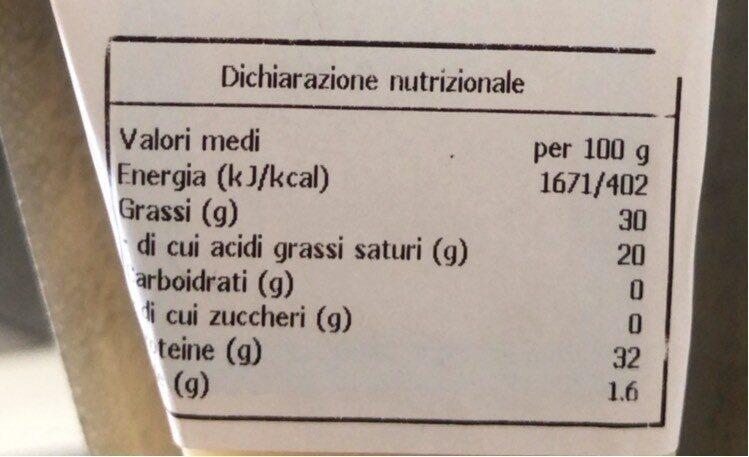 Parmigiano - Valori nutrizionali - fr