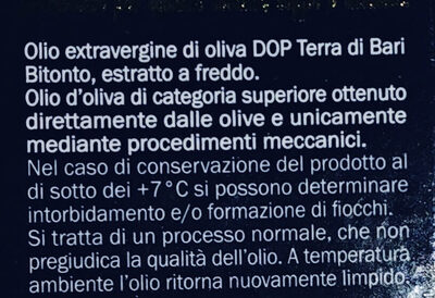 Olio di oliva D.O.P. Terra di Bari - Ingredienti - it