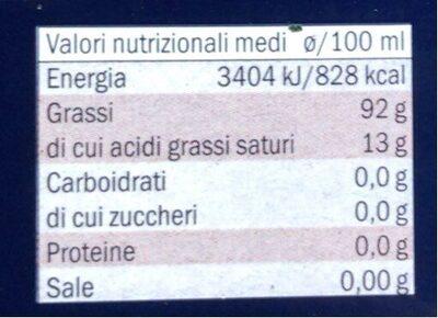 Olio di oliva D.O.P. Terra di Bari - Nutrition facts - it