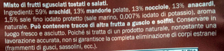 Misto tostato e salato - Ingredienti - it