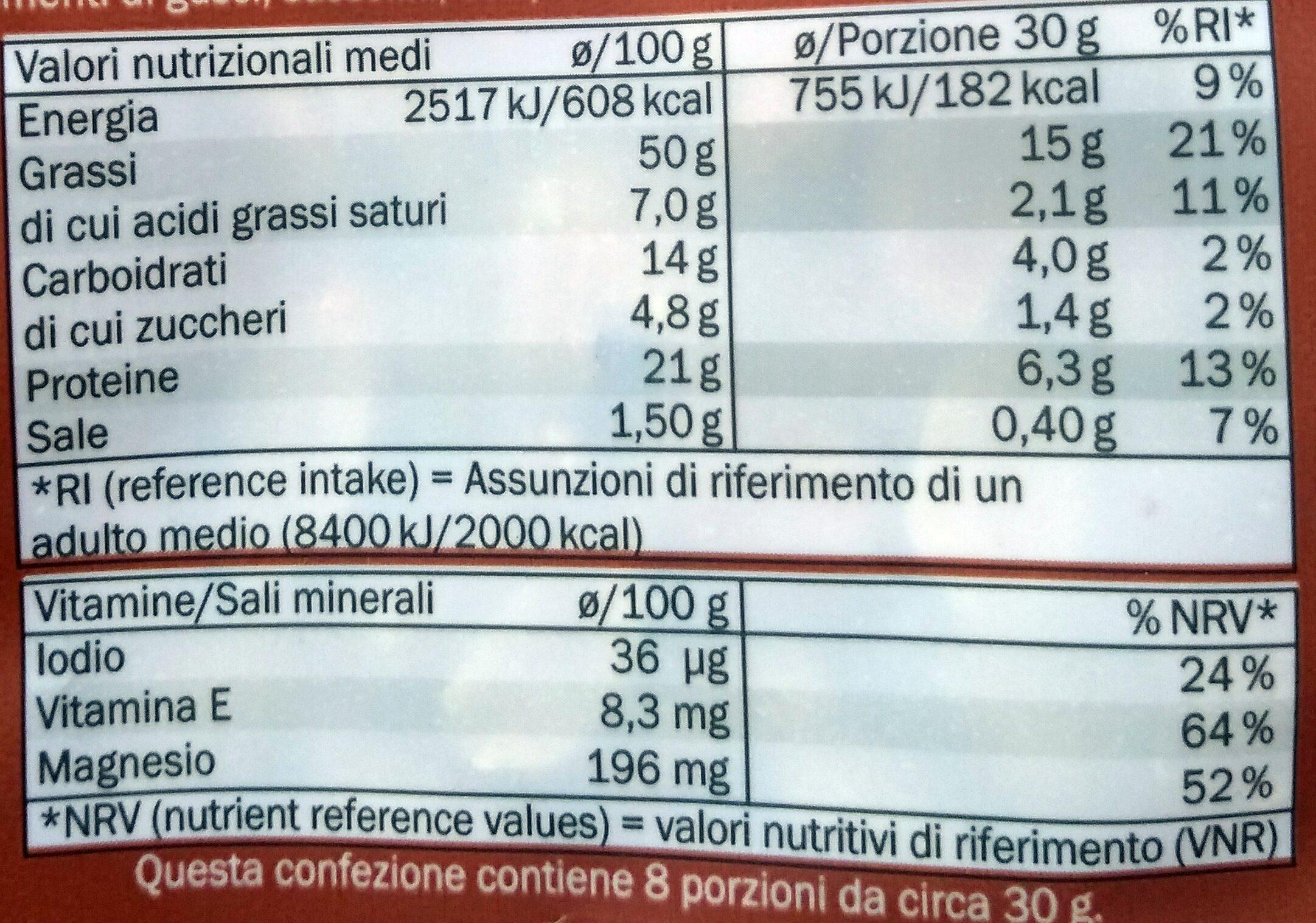 Misto tostato e salato - Informazioni nutrizionali - it