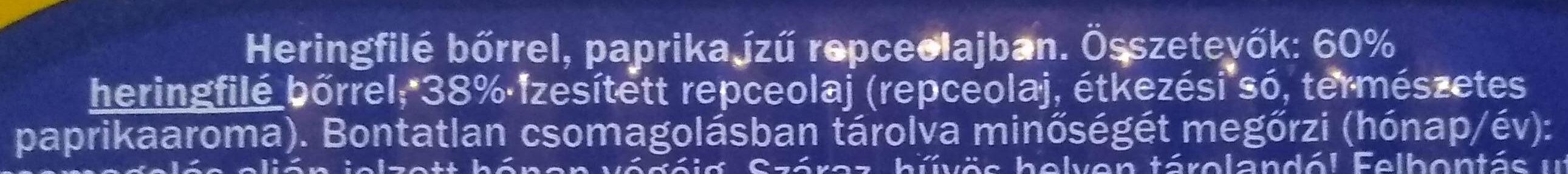 Heringfilé paprika - Ingrédients - hu