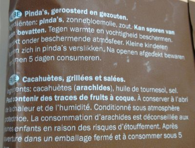 Peanuts - Ingrediënten - nl