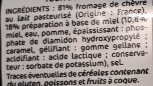 Billes de chèvre cœur de miel - Ingrédients - fr