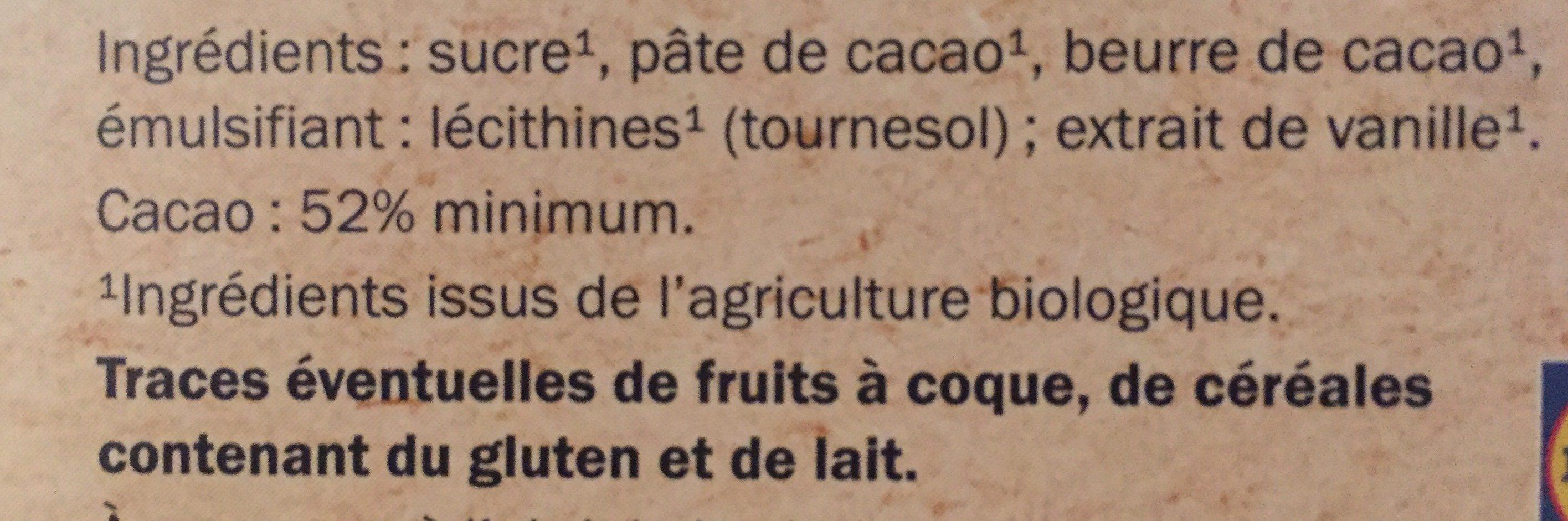 Bio noir dessert - Ingrediënten - fr
