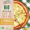 Pizza Bio 3 fromages cuite au feu de bois - Product
