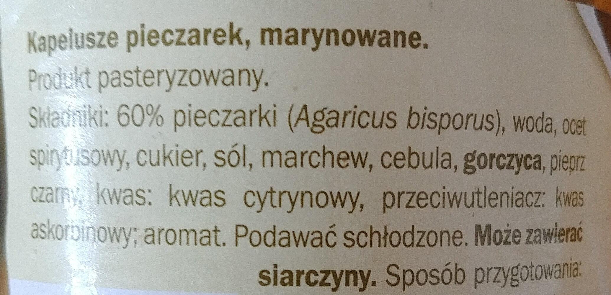 Pieczarki marynowane - Ingrédients - pl