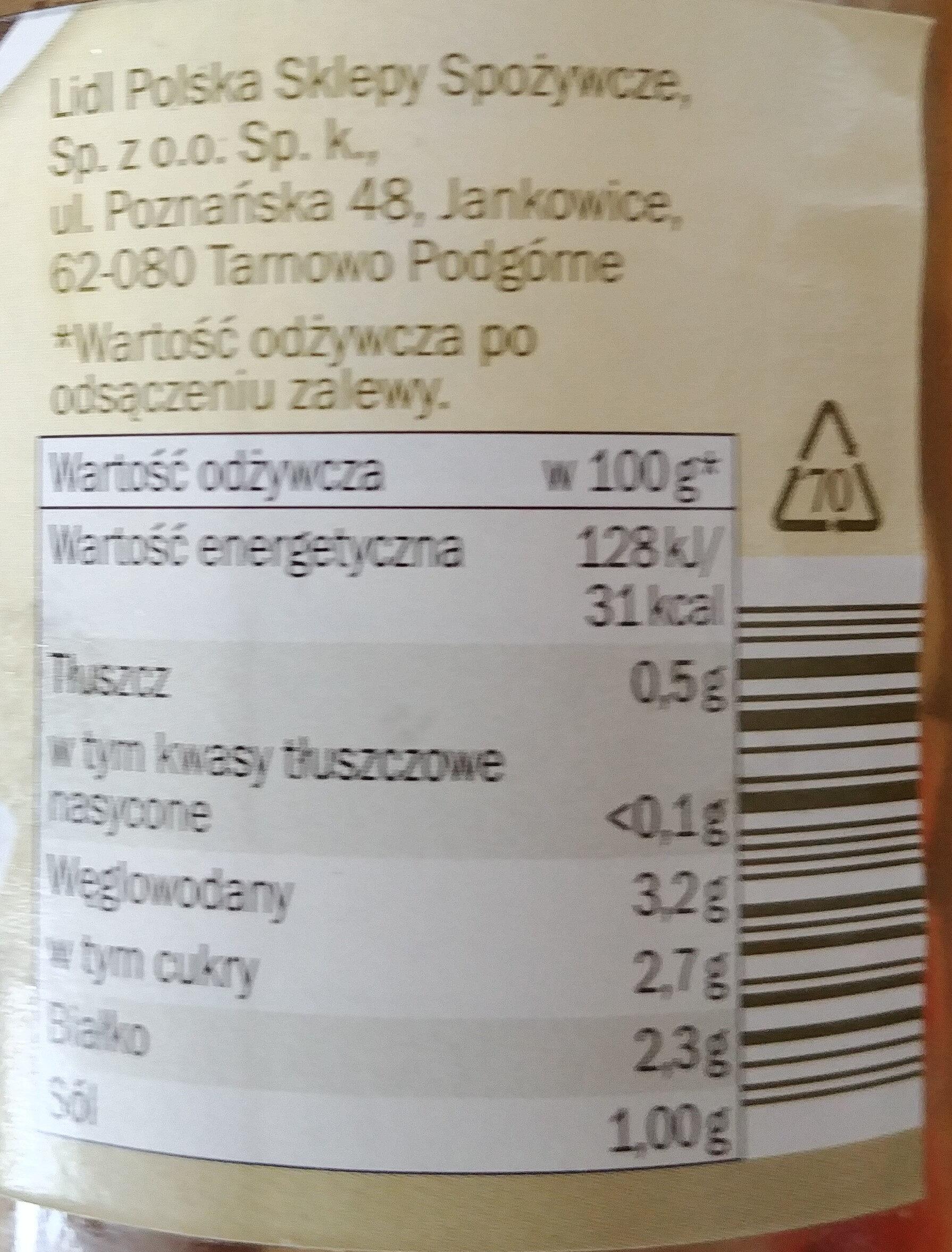 Pieczarki marynowane - Informations nutritionnelles - pl