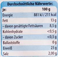 Camembert zart schmelzend - Voedingswaarden