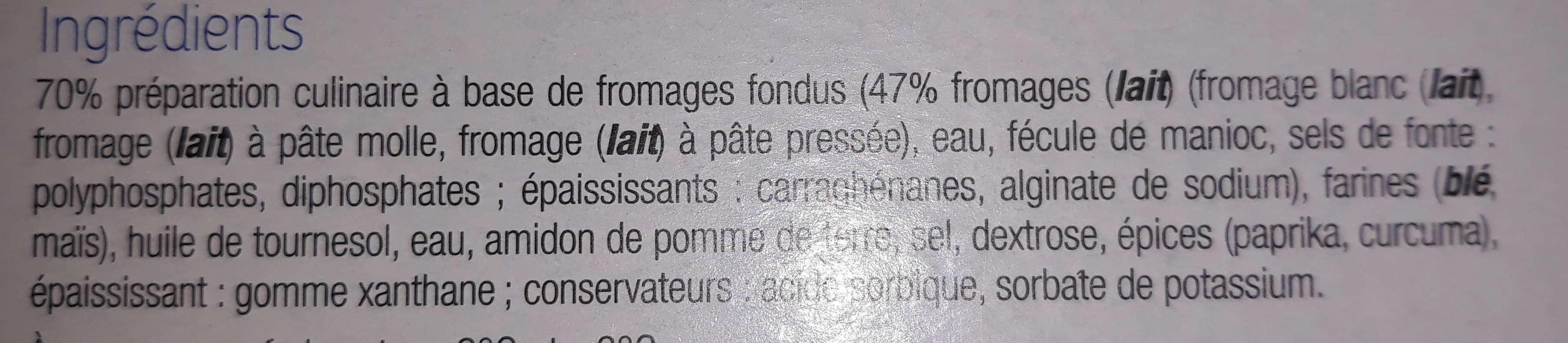 Panés 3 Fromages (x 2) - Ingredients