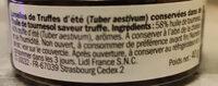 Lamellles de Truffes d'Eté - Ingrédients - fr