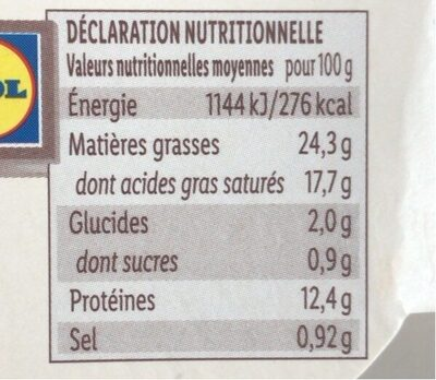 Saint felicien - Nutrition facts - fr