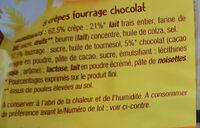 Crêpes chocolat - Ingredients - fr