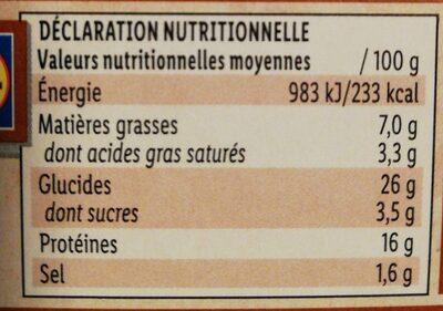 Burger le pavé - Nutrition facts - fr