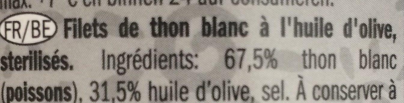 Bonito del norte - Ingrédients - fr