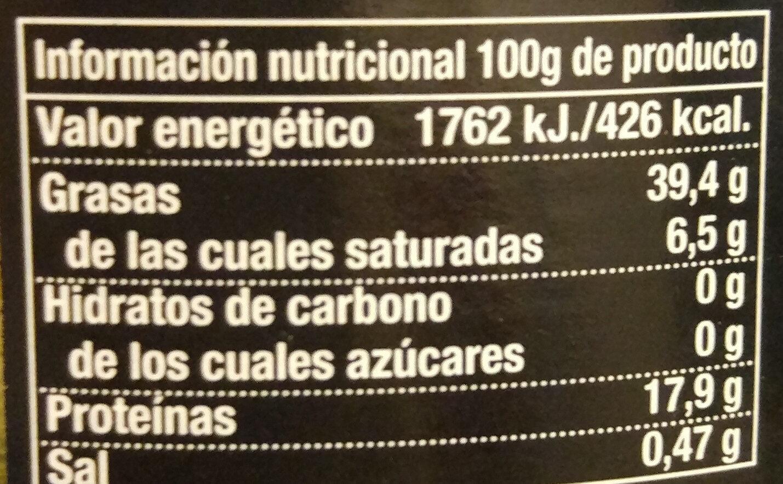 Bonito del norte - Informació nutricional - es