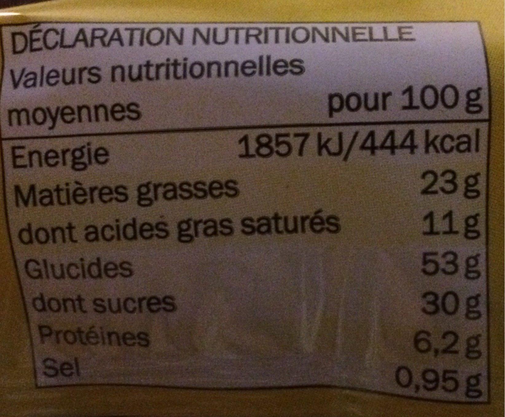 Gaufres de Liège - Informations nutritionnelles - fr