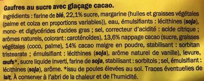 Gaufres de Liège choco - Ingrédients - fr