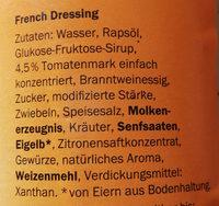 French Dressing - Ingrédients - de