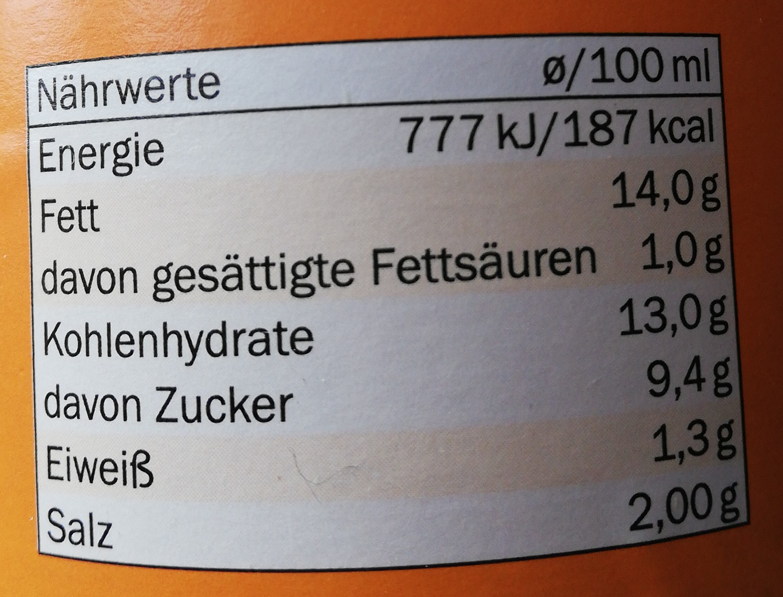 French Dressing - Informations nutritionnelles - de